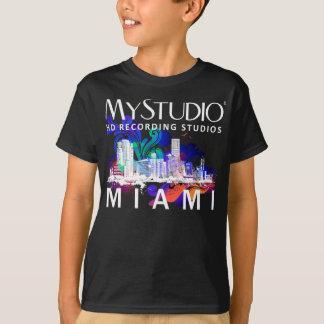 子供の黒いマイアミのTシャツ Tシャツ