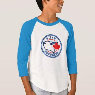 子供の3/4袖のチームカピバラのワイシャツ Tシャツ