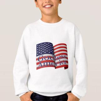 """子供の""""不信仰なアメリカ""""の汗 スウェットシャツ"""