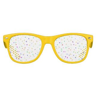 子供の*Confetti*のパーティの陰黄色いフレーム キッズサングラス