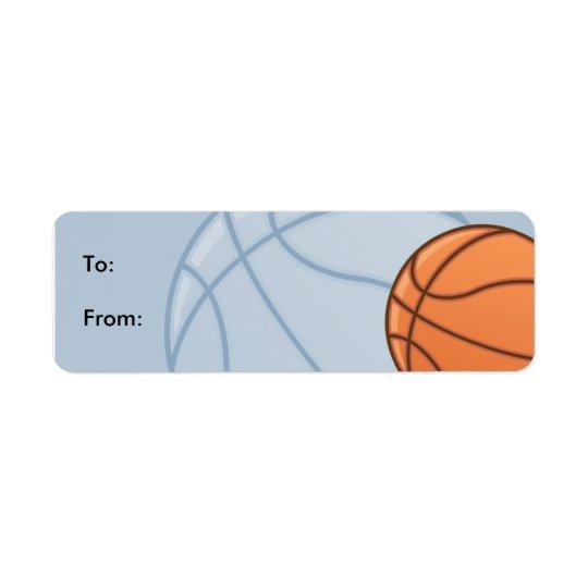 子供のBaseketballのギフトのラベルのラベル 返信用宛名ラベル