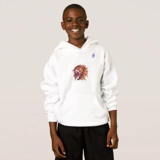 子供のHanes ComfortBlend®のフード付きスウェットシャツのライオン