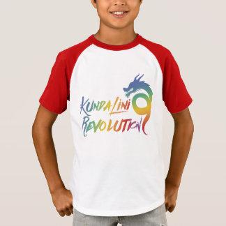 子供のKundaliniの改革の赤い袖のティー Tシャツ