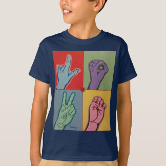 子供のTシャツのための愛ASL Tシャツ