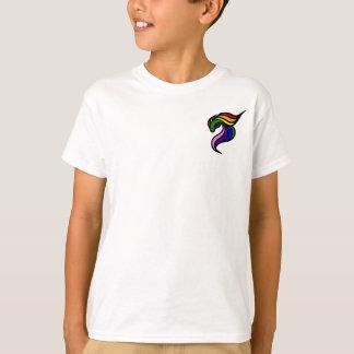 子供のTシャツの垂直テンプレート Tシャツ