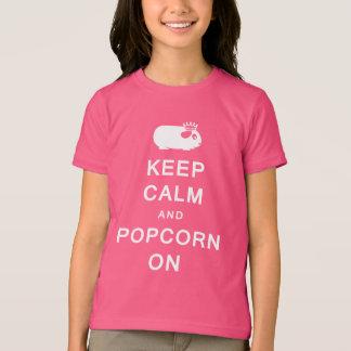 子供のTシャツの平静及びポップコーンを保存して下さい Tシャツ