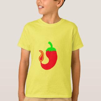 子供のTシャツの縦の熱いハラペーニョ Tシャツ