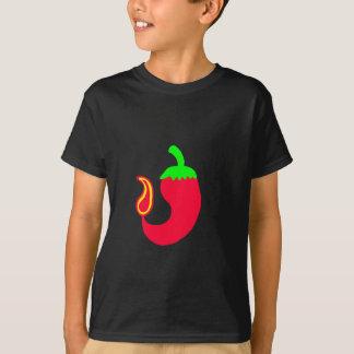 子供のTシャツ縦Bのハラペーニョ Tシャツ