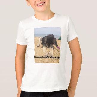 子供のTシャツ-掘る子犬 Tシャツ