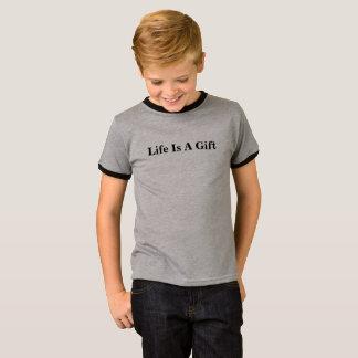 子供のTシャツ-生命はギフトのロゴです Tシャツ