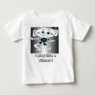 """子供のTシャツ""""私が勝者のように遊ぶ"""" ベビーTシャツ"""