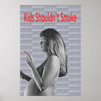 子供はたばこを吸うべきではないです ポスター