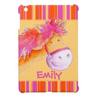 子供は女の子をかわいい子馬のipadと小型場合名前を挙げました iPad miniカバー