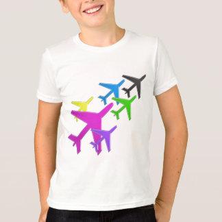 子供は飛行機のavion Vol.のvoyageursのギフトのおもしろいを愛します Tシャツ