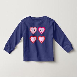 子供へかわいいハートのTシャツ トドラーTシャツ