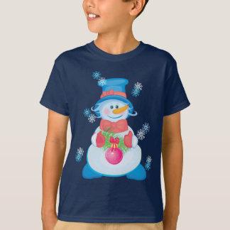 Cute Winter Snowman T-Shirt for kids
