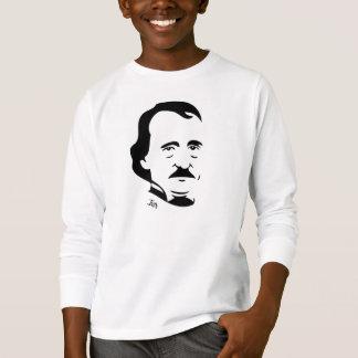子供へエドガー・アラン・ポーの長袖のTシャツ Tシャツ