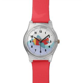 子供へカラフルで及び愛らしい漫画の飛行機 腕時計