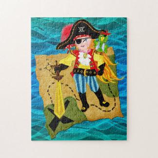 子供へカリブのなパズルの海賊女の子 ジグソーパズル