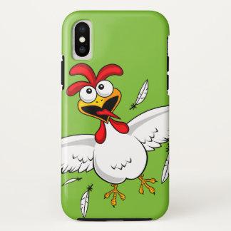 子供へクールでおもしろいでかわいくユーモアのあるな漫画の鶏 iPhone X ケース