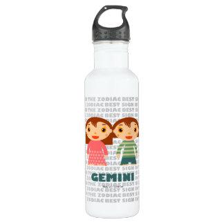 子供へジェミニ(占星術の)十二宮図のボトル ウォーターボトル