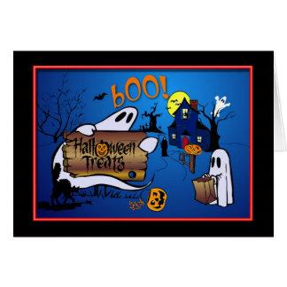 子供へハッピーハローウィンの挨拶状 カード