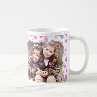 子供へレトロの写真のピンクのマグ コーヒーマグカップ