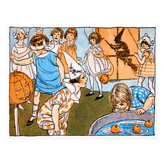 子供へヴィンテージのハローウィンパーティ ポストカード