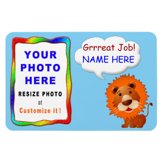 子供へ名前入りな写真の磁石 マグネット