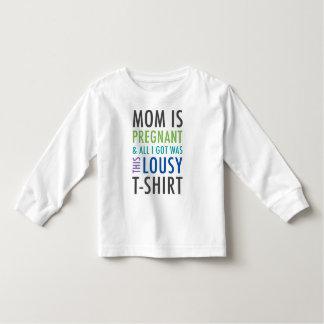 子供へ妊娠の発表のワイシャツ トドラーTシャツ