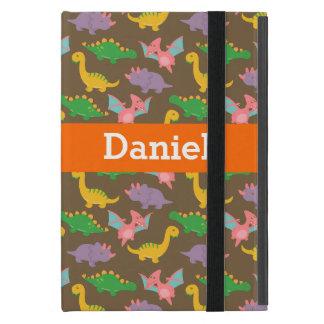子供へ愛らしくカラフルな恐竜パターン iPad MINI ケース