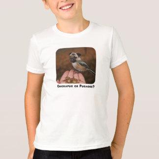 子供へ愛らしく小さい鳥犬のTシャツ Tシャツ