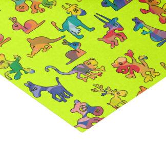子供へ抽象的な動物パターン + あなたのアイディア 薄葉紙