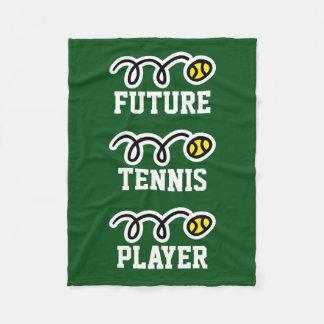 子供へ未来のテニス選手のフリースブランケット フリースブランケット