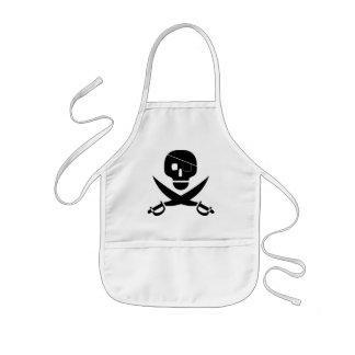子供へ海賊スカルのエプロン 子供用エプロン