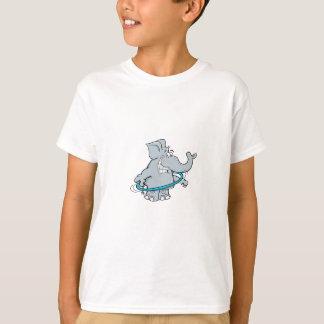 子供へ象のTシャツを望むHOLA Tシャツ