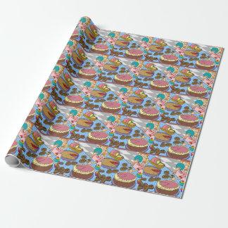 子供へ顔の包装紙のパイ ラッピングペーパー