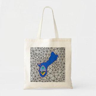 子供へ: 地図が付いているグアムの創造的な旗 トートバッグ