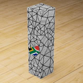 子供へ: 地図が付いている南アフリカ共和国の創造的な旗 ワインギフトボックス