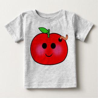 子供へAppleおよびみみずのワイシャツ ベビーTシャツ