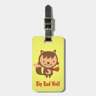 子供へAppleを持つかわいく大きく悪いオオカミ ラゲッジタグ