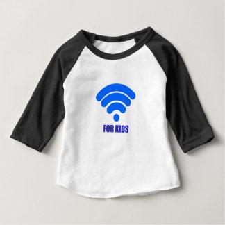 子供へWifi ベビーTシャツ