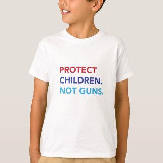子供を保護して下さい。 ない銃。 子供のティー Tシャツ