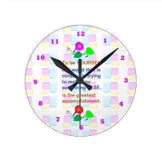 子供を子供があることを許可して下さい: 知恵の単語あなた自身はあります ラウンド壁時計