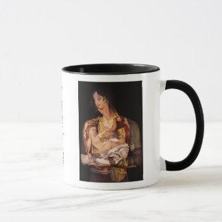 子供を持つモンテネグロの女性 マグカップ