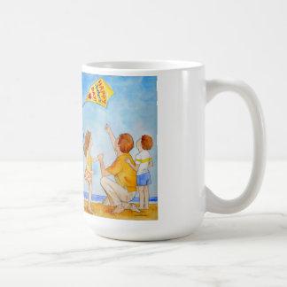 子供を持つ父の日凧の飛んでいるなパパ コーヒーマグカップ