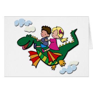子供を持つ飛行ディーノ カード