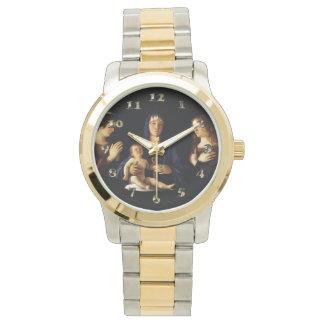 子供イエス・キリスト-キャサリン- Magdaleneとのマドンナ 腕時計