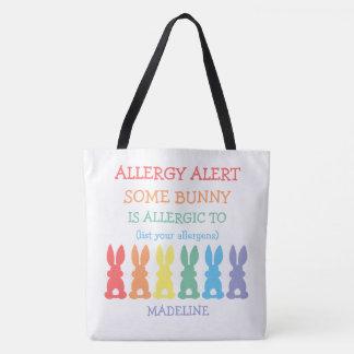 子供カスタムなイースターはバニーアレルギーにです トートバッグ