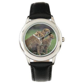 子供クラシックな腕時計または野性生物のチータ 腕時計
